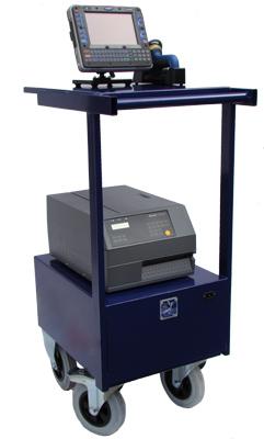 de mobiele werkplek voor printers en terminals